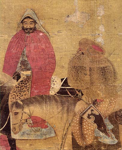 Mongol rider with administrator-Yuan