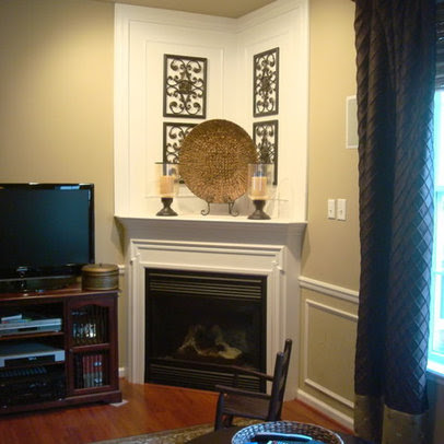 Corner Fireplace Design Ideas, Pictures, Remodel, and Decor