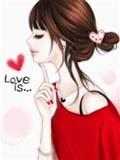 gambar kartun korea cewek cantik animasi bergerak korea