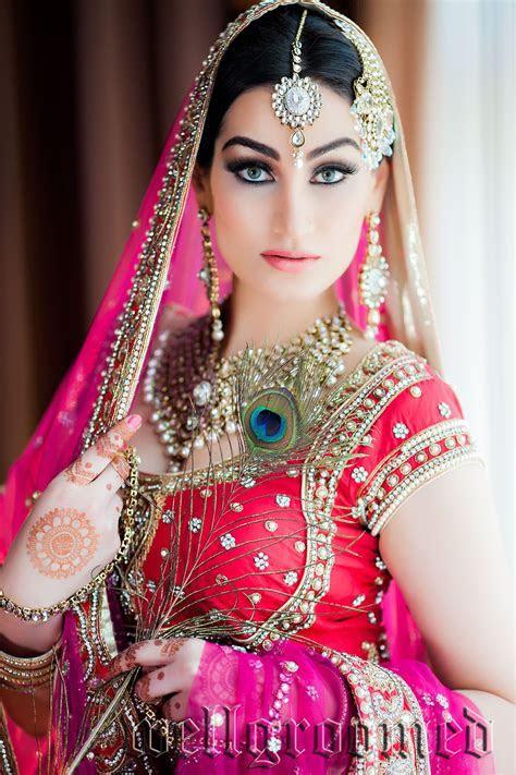 Beautiful Indian Bride Wearing Well groomed Designer