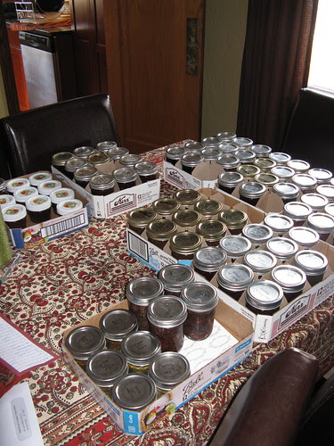 A portion of this year's canned goods