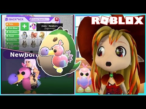 Chloe Tuber Roblox Adopt Me Fossil Egg Update Hatched Legendary Dodo Bird From First Egg