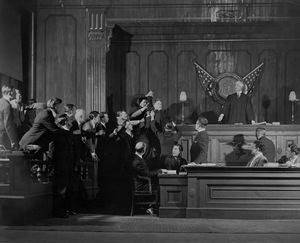 Scene in the Court Room of the... Digital ID: 1101483. New York Public Library