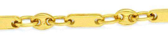 Foto 2, Massive Gold-Kette Bohnen Marina Schiffsanker Plättchen, K2227