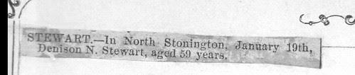Denison N. STEWART Death Notice by midgefrazel