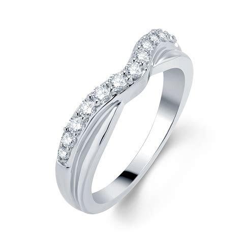 0.40 Cttw Diamond Twist Contour Wedding Band in 18K White