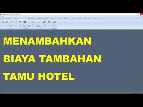 Cara Menambahkan Biaya Tambahan Untuk Tamu di Software Hotel