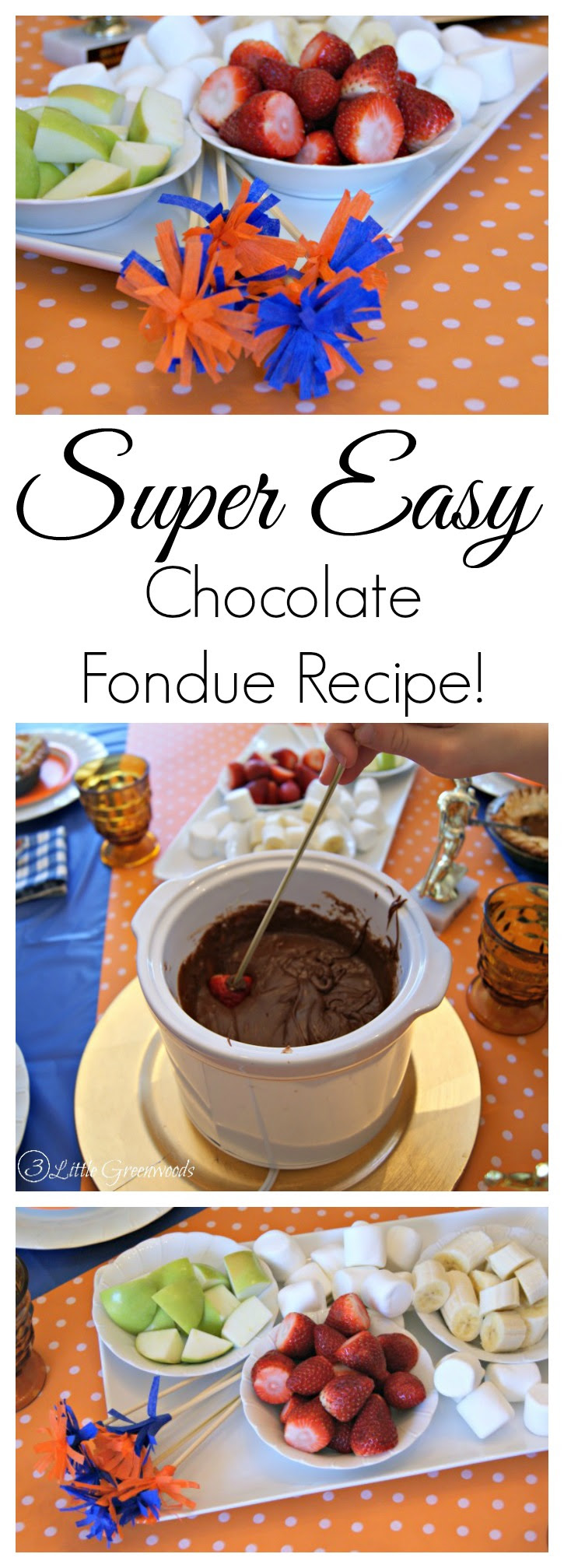 Super Easy Chocolate Fondue Recipe by 3 Little Greenwoods ...