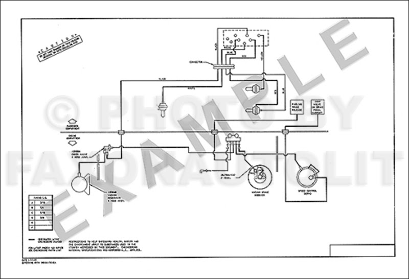 1986 Ford Escort Mercury Lynx Vacuum Diagram for Brakes ...