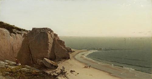 Alfred Thompson Bricher - Quiet Day near Manchester [1873] by Gandalf's Gallery