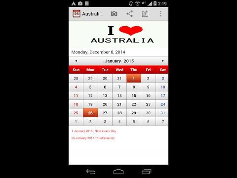 Australia Calendar 2017 - Android Apps on Google Play