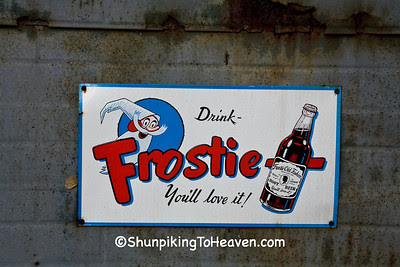 Frostie Old Fashion Root Beer Sign, Brown County, Indiana