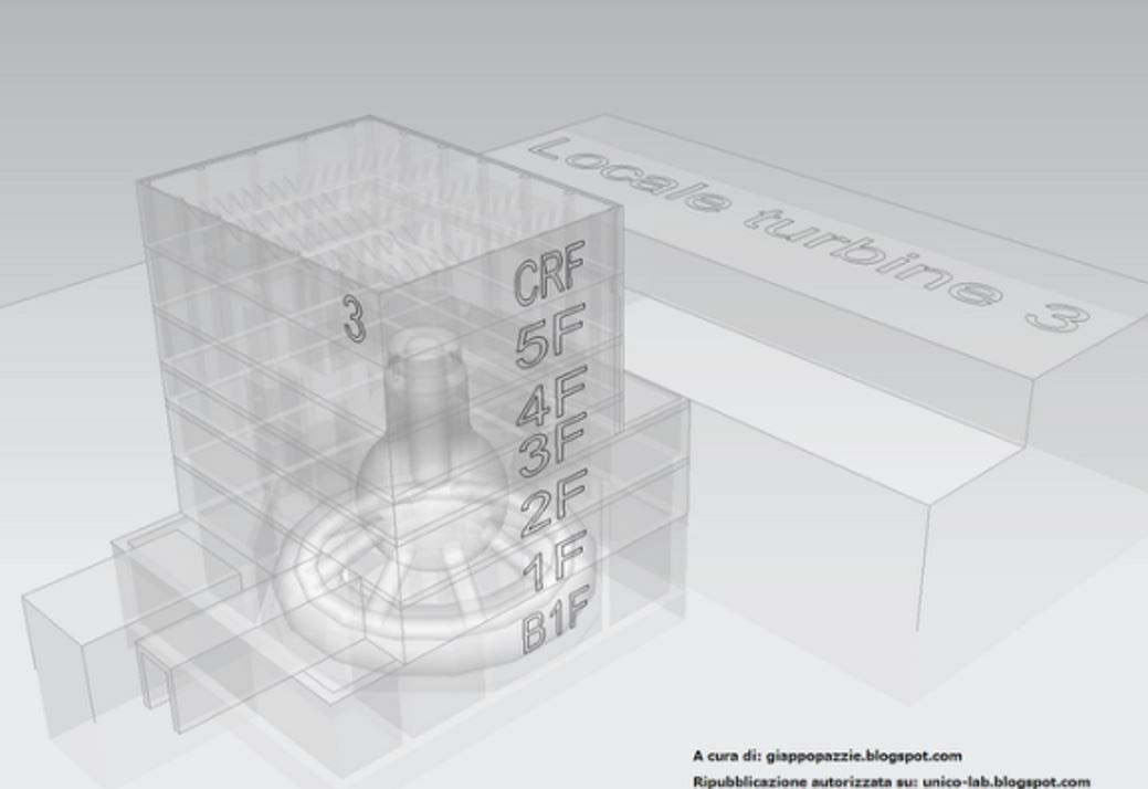 Fig.4 : Vue oblique du BR3 en transparence