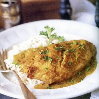 Chicken with Banana Curry Sauce