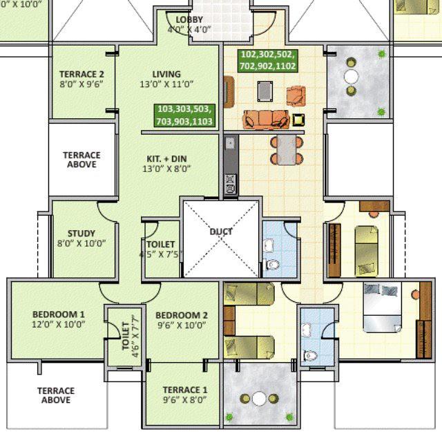 eva bavdhan 2.5 bhk odd floors