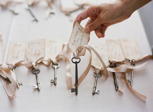 Key Place Cards Wedding Details Escort Cards and Place Cards
