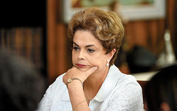 Presidente afastada Dilma Rousseff (PT) no Palácio da Alvorada, em Brasília