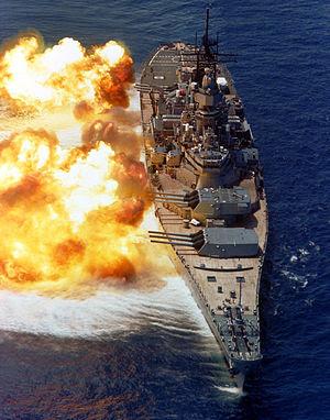 300px BB61 USS Iowa BB61 broadside USN Kendaraan tempur Amerika Termahal hingga sekarang