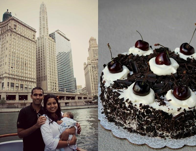 Vanilla Black Forest Cake
