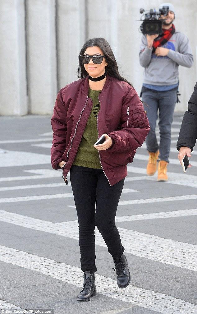 Birthday babe: Kourtney Kardashian went sight-seeing in Iceland on the day of her 37th birthday on Sunday