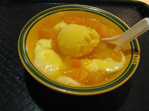 Mango Ice-Cream + Beancurd