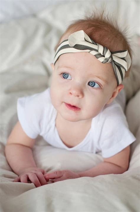 Knot headband black and white stripe baby by