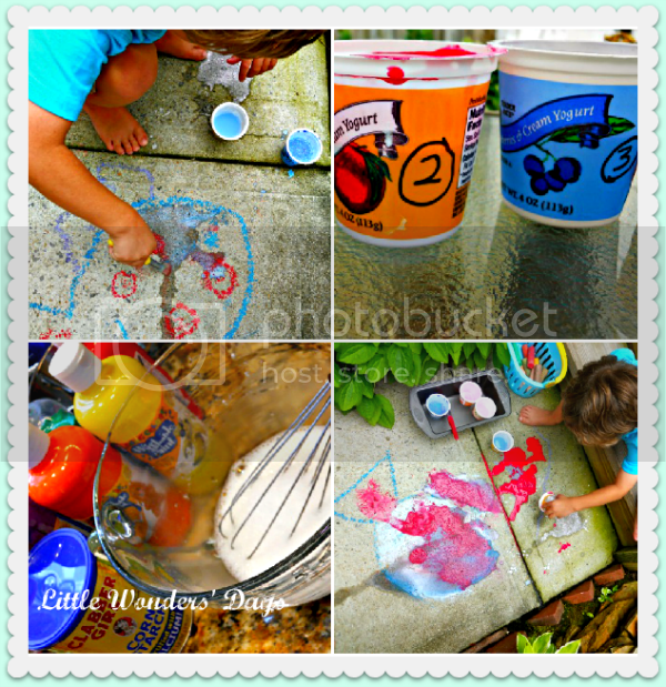 how to make sidewalk chalk paint