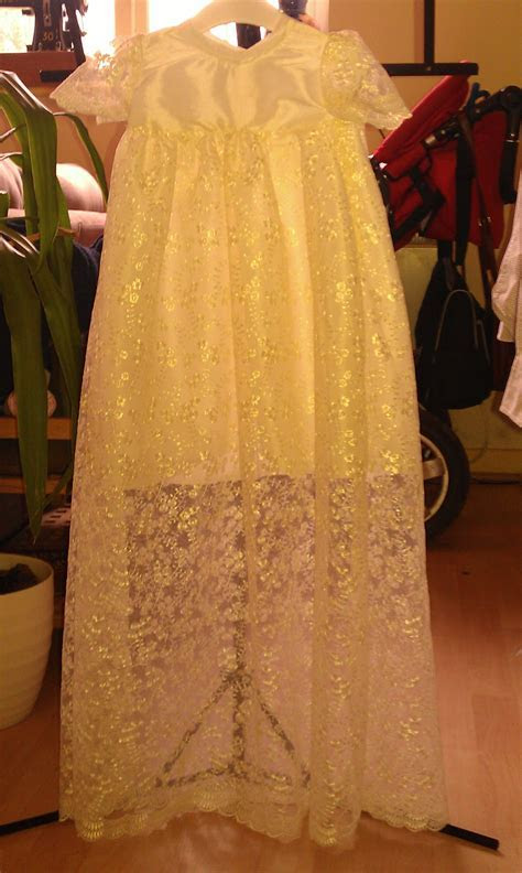Phoebe's Christening Gown (made from my wedding dress