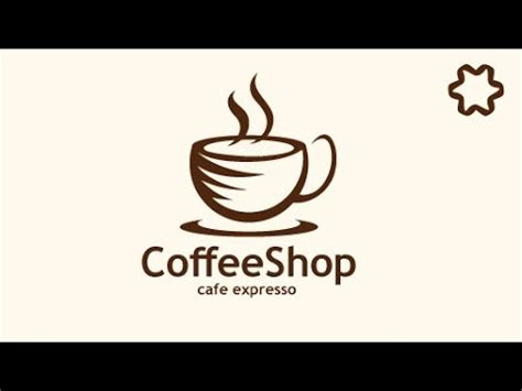 professional cafe coffee shop logo design tutorial adobe