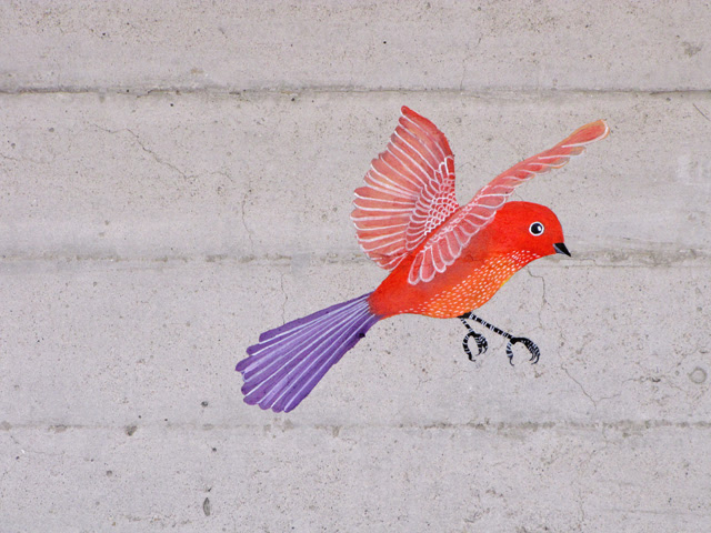 Wall bird done!