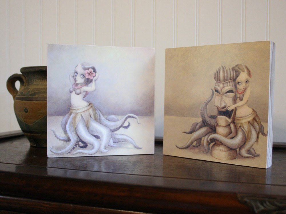 Wood-mounted Print Set - huladollsquidgirls