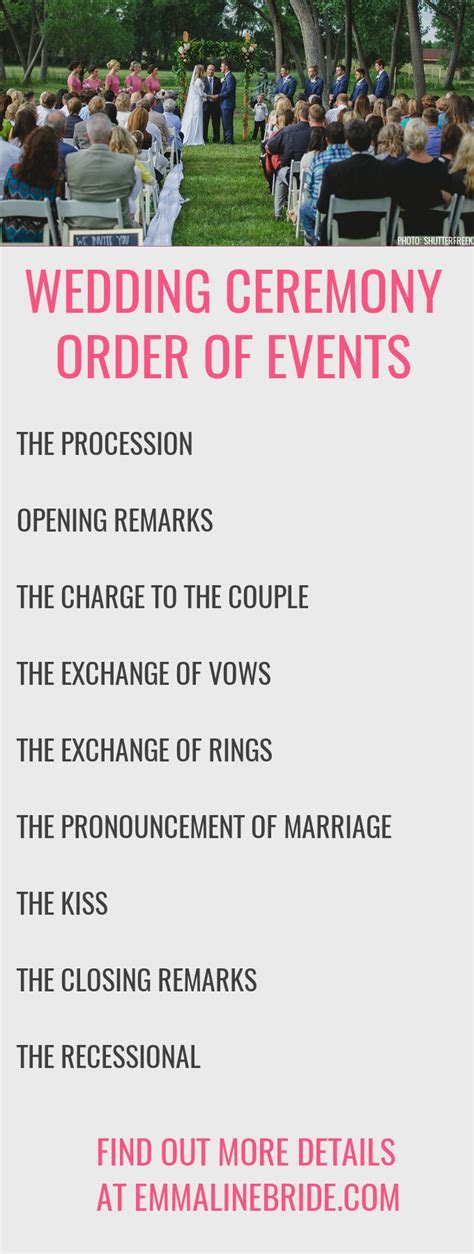 How To ? Ceremony Order of Events   CREATIVE WEDDING