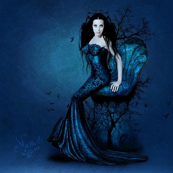 Natalie Shau, painting, dream, Monica Naranjo, Throne