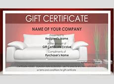 Interior Design and Furniture Gift Certificate Templates   Easy to Use Gift Certificates