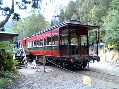Observation car on ABT Railway