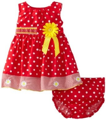 Blueberi Boulevard Baby-girls Newborn Dots and Daisies Sundress  ~ List Price: $ 30.00 ~  Price: $1 8.00 & FREE Shipping on orders over $25.  You Save:  $ 12.00 (40%) ~ http://www.amazon.com/gp/product/B00BI0WFOU/ref=as_li_ss_il?ie=UTF8=1789=390957=B00BI0WFOU=as2=balitour07-20