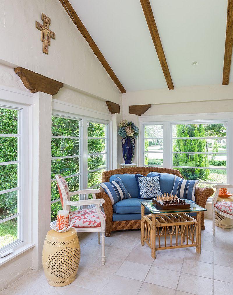 25 sunroom design ideas. small sunroom furniture. small sunroom