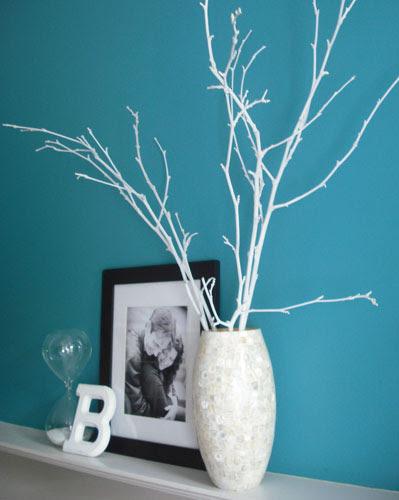 Kuru Ağaç Dalından Dekoratif Ağaç Yapımı Modern şık çiçekli El Işi