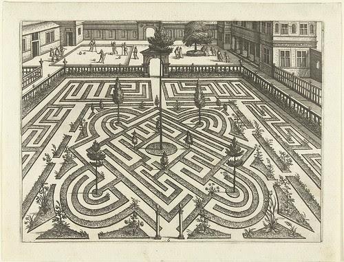 Het labyrinth wordt - 16th century garden layout design