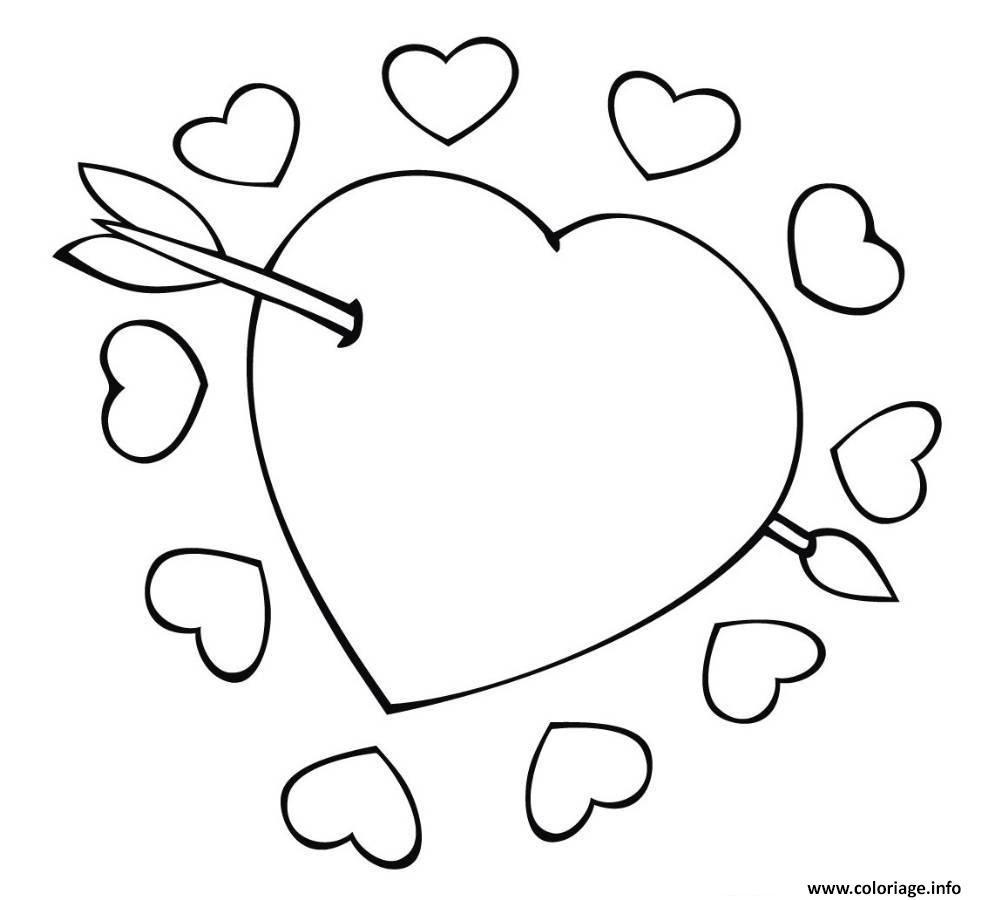 Coloriage Coeur Brillant.Inspiration Coloriage A Imprimer Coeur D Amour Imprimer Et Obtenir