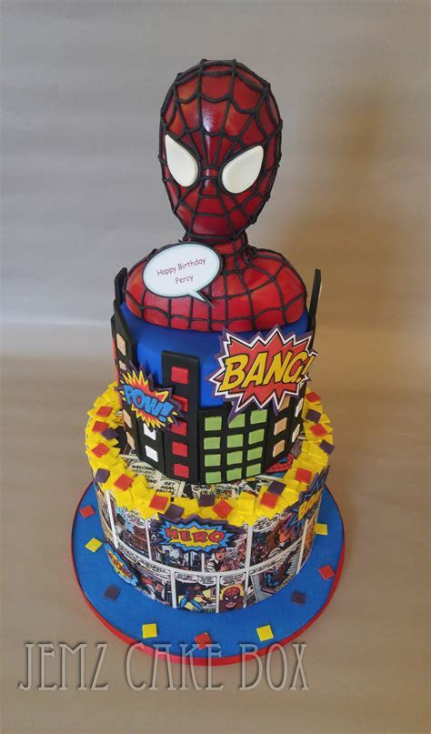 Marvel Spiderman Comic Cake   Jemz Cake Box