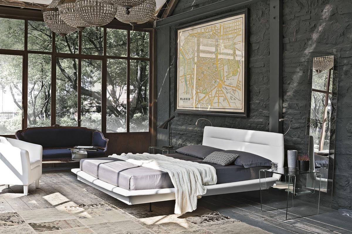 bedroom design with brick wall