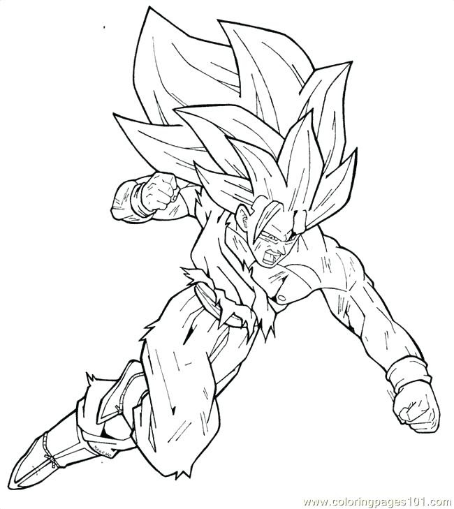 Dragon Ball Z Goku Coloring Pages At Getdrawingscom Free For