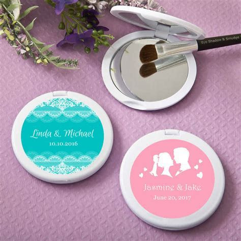 Cheap Personalized Compact Mirrors White Color   LOWEST