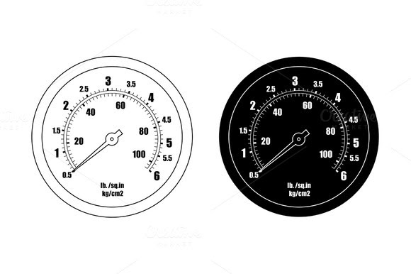 Stock Graphic Pressure Gauge Bar Icon Vector Logotire Com