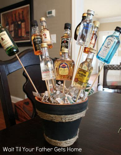 To make the ?Man Bouquet? you?ll need: about 10 mini