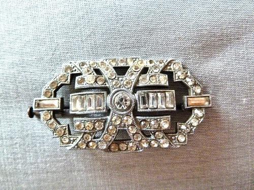 Art Deco Diamante Brooch