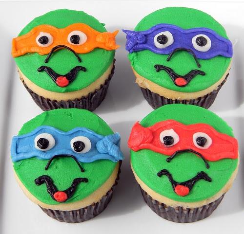 Cow A Bunga Teenage Mutant Ninja Turtles Cupcakes