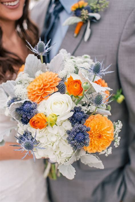 Orange and Blue Wedding Theme   Wedding Flair