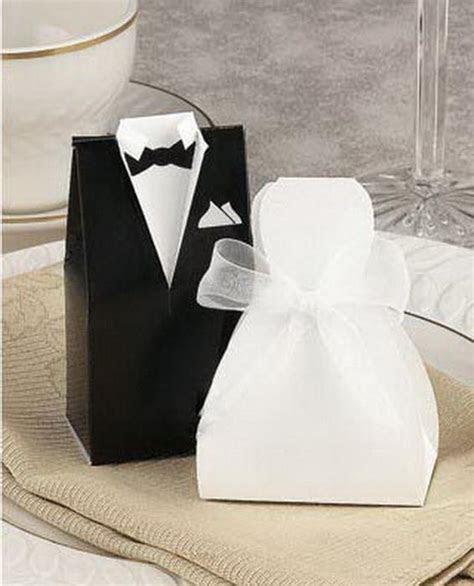 Bridal Gift Cases Groom Tuxedo Dress Gown Ribbon Wedding